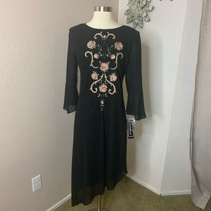 Positive Attitude NWT Embroidered Beaded High Low